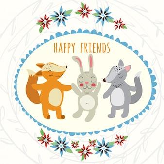 Wilk, królik i lis