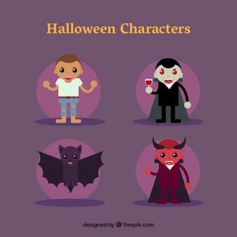 Wilk mężczyzna, dracula, bat i diabeł