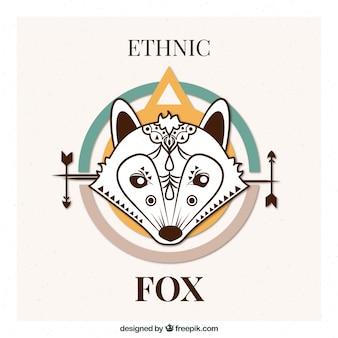 Wilk pochodzenie etniczne w sposób abstrakcyjny wzór