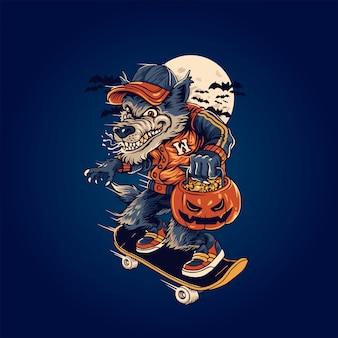 Wilk w halloweeen