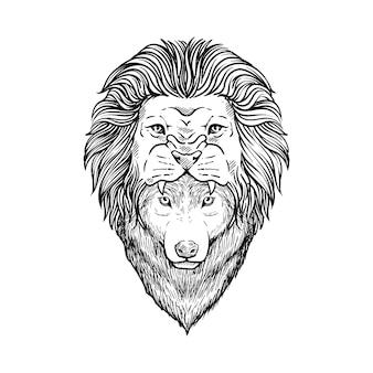 Wilk z lwią czapką