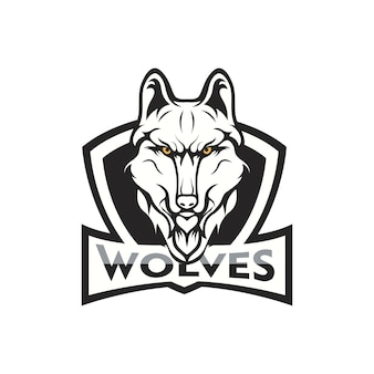 Wilki maskotki logo przewodzą sport drużyny ilustrację
