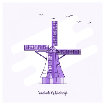 Windmills of kinderdijk landmark