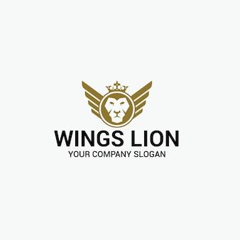 Wings lion logo