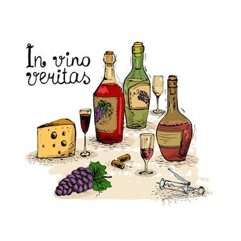 Wino martwa natura