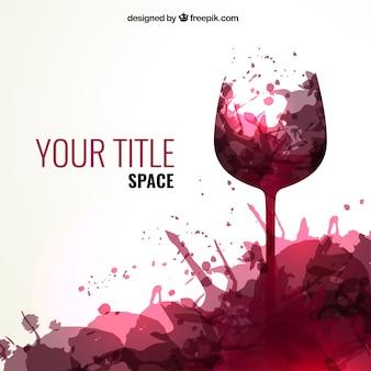 Wino odpryskami tło