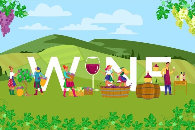 Winogronowa produkcja polowa alkohol wino