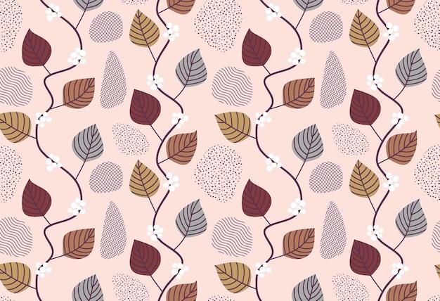 Winorośl i bluszcz tło z liśćmi wspinaczkowymi.