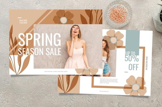 Wiosenna koncepcja sprzedaży z sezonową wyprzedażą