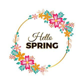 Wiosenna rama kwiatowy