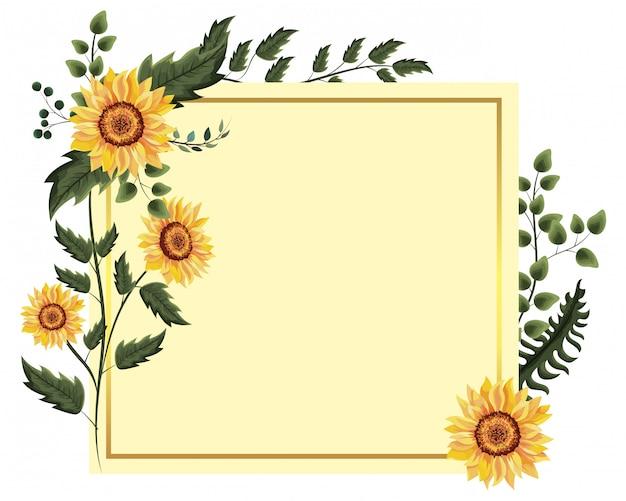 Wiosenna ramka kwiatowa