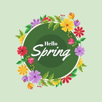 Wiosenna Ramka Kwiatowy Darmowych Wektorów