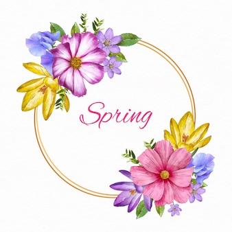 Wiosenna ramka kwiatowy