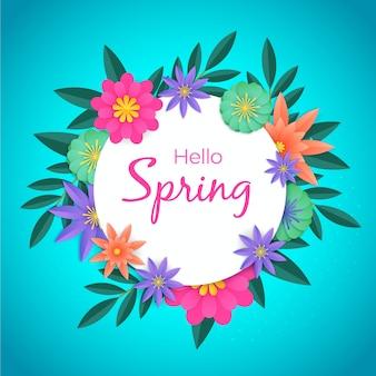 Wiosenna tapeta w kolorowym papierowym stylu