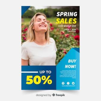 Wiosenna wyprzedaż plakat