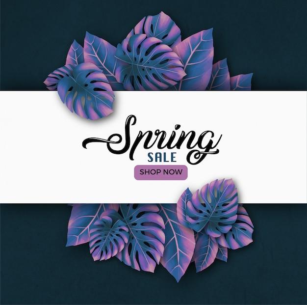 Wiosenna wyprzedaż transparent