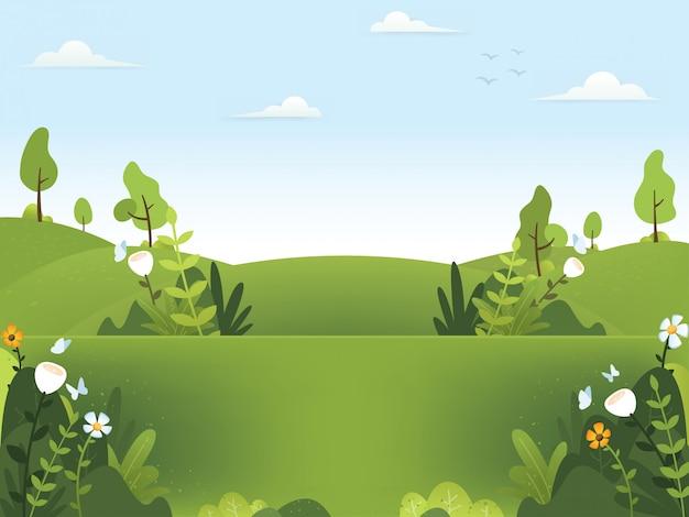 Wiosenne ilustracje tła