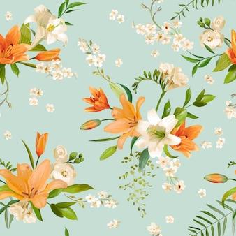 Wiosenne kwiaty lilii tła