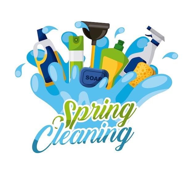 Wiosenne mycie gąbki do spryskiwania świeżego powietrza z dodatkiem mydła