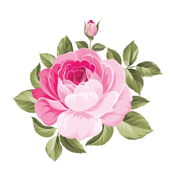 Wiosenny dekoracyjny bukiet kwiatów róż.
