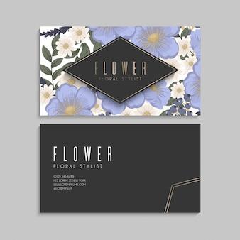 Wiosenny kwiat na granicy - jasnoniebieski kwiat