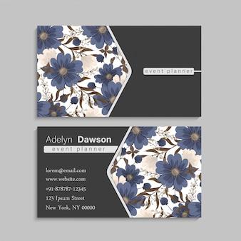 Wiosenny kwiat na granicy - niebieski kwiat