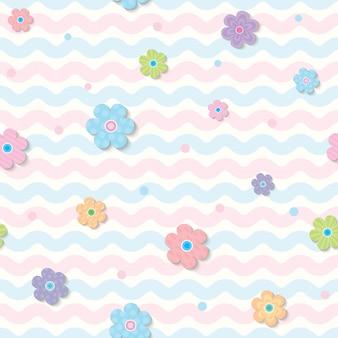 Wiosenny wzór kwiatka