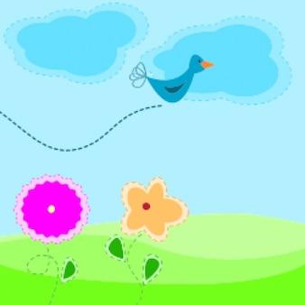 Wiosną cartoon