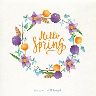 Wiosna kwiatowy ramki