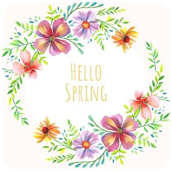 Wiosna kwiatowy tło