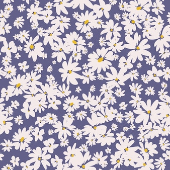 Wiosna kwiatowy wzór z stokrotkami