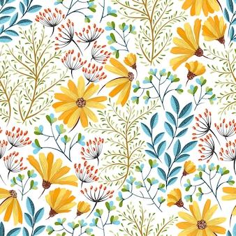 Wiosna kwiatowy wzór