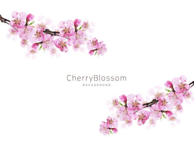 Wiosna kwitnąca wiśnia tło