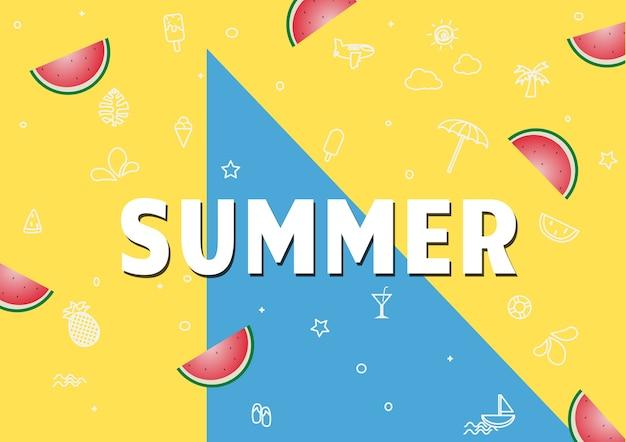 Wiosna lato plakat