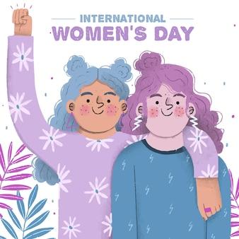 Wiosna Na Dzień Kobiet Darmowych Wektorów