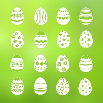 Wiosną ozdobne jajka z zestawu wektor zbiory