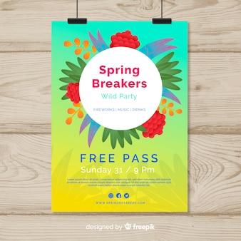 Wiosna plakat szablon