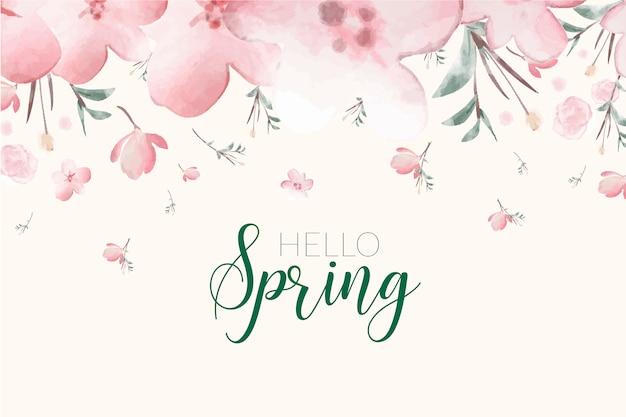 Wiosna w tle kwiatów