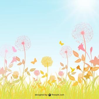 Wiosna w tle