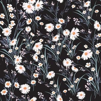 Wiosna wektor kwiatowy wzór z stokrotkami