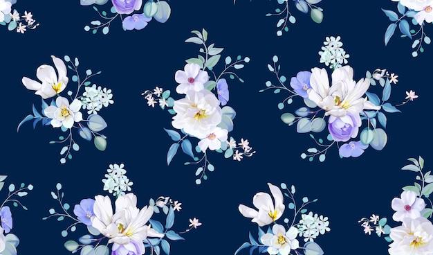 Wiosna wzór z kwiatami