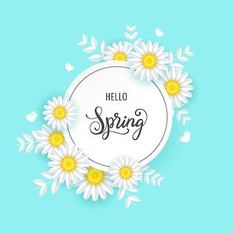 Wiosny sprzedaży tło z pięknymi kwiatami