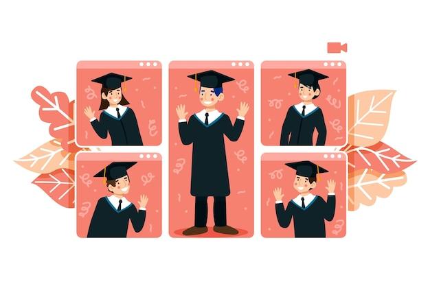 Wirtualna ceremonia ukończenia szkoły
