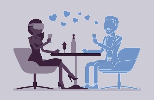 Wirtualna randka w restauracji