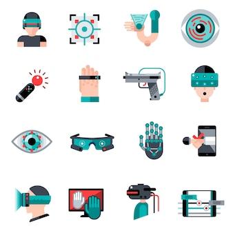 Wirtualna rzeczywistość rozszerzona ikony