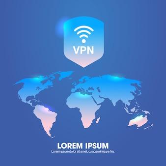 Wirtualna sieć prywatna bezpieczeństwo internetowe koncepcja prywatności bezpieczne połączenie vpn ochrona danych osobowych