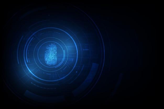 Wirtualny system identyfikacji hud hi tech background