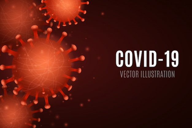 Wirus 3d drobnoustrój corona. organizm patogenny. ilustracja