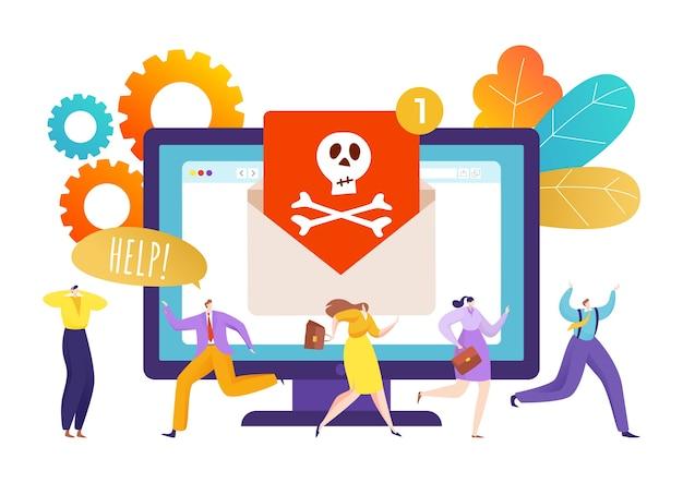 Wirus komputerowego zabezpieczenia internetowego