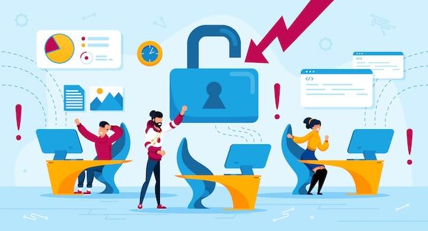 Wirus komputerowy, haker atak płaski koncepcja